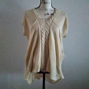 Love Stitch Size Small Ivory Lagenlook Sweater top